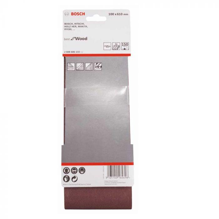 Cinta de Lixa X440 100x610mm G150 Pacote com 3 Unidades- Bosch