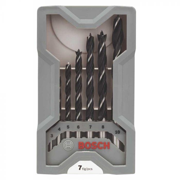 Jogo de Brocas para Madeira 3-10mm com 7 Unidades- Bosch