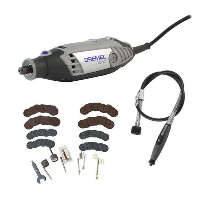 Micro Retífica 3000 com 82 acessórios - Dremel