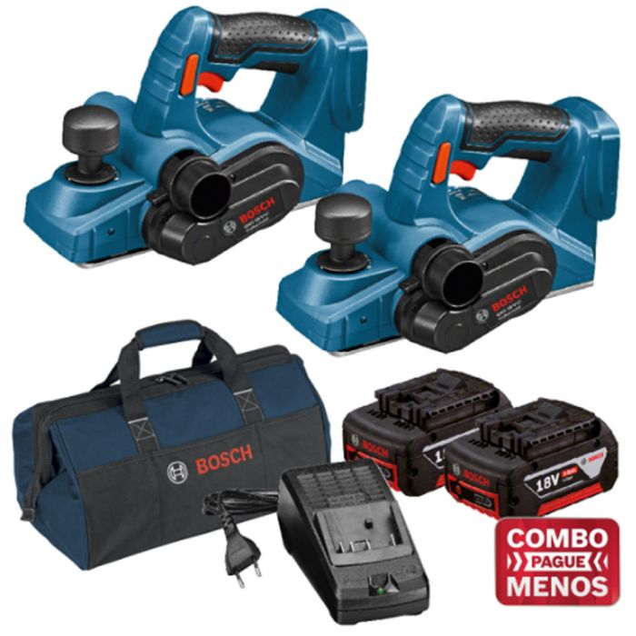 Combo 2 Plainas + Kit Baterias + Bolsa - Bosch