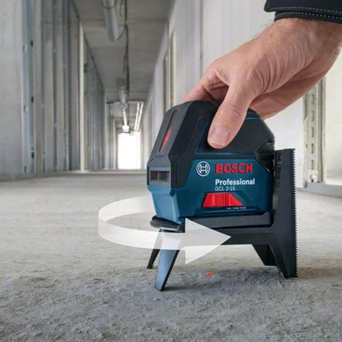 Nível a Laser de linhas 15 metros com pontos de prumo GCL 2-15 com Maleta - Bosch